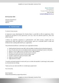 how to write cover letter addressing the selection criteria