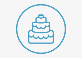 Wedding Icon Wedding Cake Clipart Black And White Transparent Png