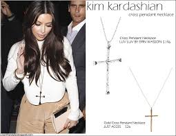 who kim kardashian on april 9 2016 in los angeles what she wore large cross pendant necklace copy her look low luv by erin wasson cross pendant