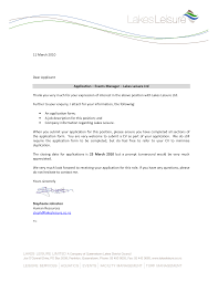 Ideas Collection Cover Letter Example Event Management For Resume