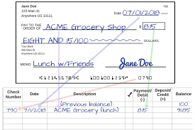 see how to write a check step by step explanation an example of how to copy information from your completed check to your check register
