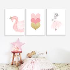 <b>Nordic Kids Poster Pink</b> Ballet Poster Swan Wall Art Posters And ...