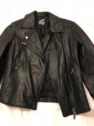 black leather jacket oasis size xs brand new