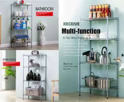 metal wire kitchen shelving fantastic com brothers 4 tier wire shelving