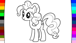 how to draw and coloring my little pony