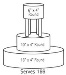 Wilton Round Cake Serving Chart Wilton Serving Guide For 150 200 Guests