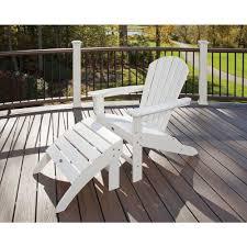 white outdoor furniture. Trex Outdoor Furniture Cape Cod Classic White 2-Piece Patio Adirondack Chair