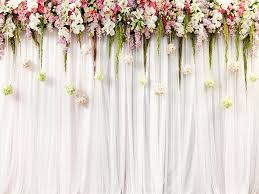 Wedding Photo Background Kate Wedding Background White Curtain Decorate Flower
