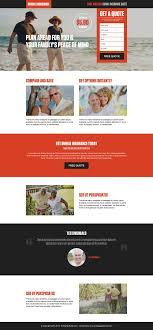 free burial insurance quotes responsive landing page design