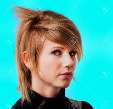 Emo Girl Hair Style emo girl punk hair style stock photo picture and royalty free 6465 by wearticles.com