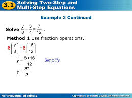 solving two step equations calculator