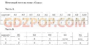 ГДЗ тесты по русскому языку класс Селезнёва онлайн на net 3 Итоговый тест по теме Союз