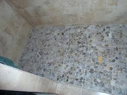 how to clean pebble stone shower floor decoration pebble shower floor cloud tile attractive inside from