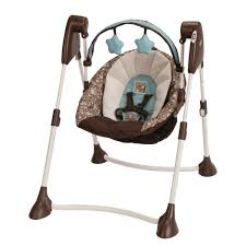 Amazon.com : Graco Swing By Me Portable 2-in-1 Swing, Little Hoot ...