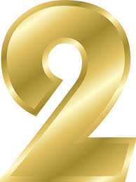 free vector graphic number 2 alphabet abc gold free image