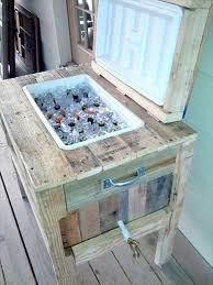diy pallet cooler ideas diy to make homemade wooden ice chest