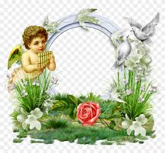 transpa photo frame with angel and doves angel borders and frames 1158404