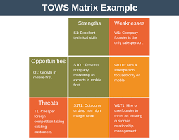 Swot Matrix Examples Tows Matrix Analysis Strategy Training From Epm