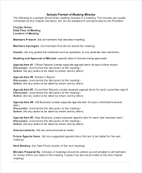 sample of minutes taken at a meeting sample meeting minutes formats 11 examples in pdf word