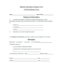 Printable Medical Release Form For Children Custom Example Of Authorization Letter Format To Release Medical Emergency
