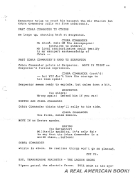 g i joe behind the scenes a real american book page  g i joe the movie screenplay pg 4