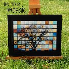 mosaic tile art projects. Beautiful Art Glass Tile Tree Mosaic To Art Projects P