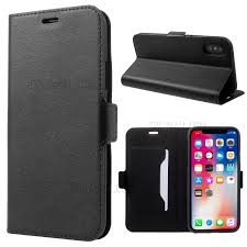 doormoon genuine leather card holder stand case for iphone x xs 5 8 inch black