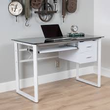 ailey tempered glass computer desk