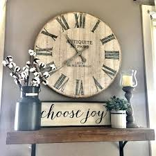 13 rustic clock and plant display