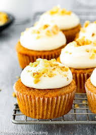 Eggless Carrot Cake Cupcakes Mommys Home Cooking