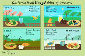 California Growing Season Chart An A Z Guide To California Fruits And Vegetables