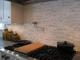 Faux Stone Kitchen Backsplash American Tile Stone A Completed Projects