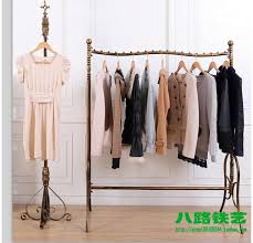How High To Hang A Coat Rack Great Wrought Iron High End Clothing Shelves Floor Display Shelf 19