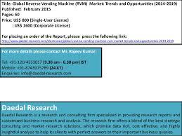 Vending Machine Trends 2015 Unique Global Reverse Vending Machine RVM Market Trends And Opportunities