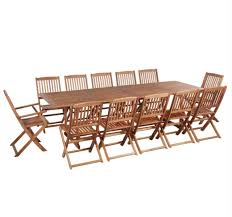 12 seater 4m garden table chairs set