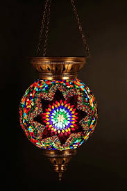 colored glass light fixtures turkish decor lamps present eclectic moroccan mediterranean lantern hanging stained mosaic by