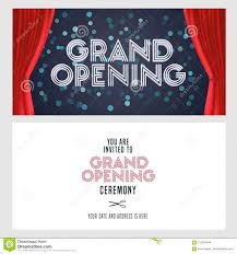 Grand Opening Invitations Grand Opening Vector Banner Illustration Stock Vector