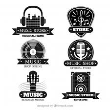 Treble Clef Music Store Music Store Logo Collection With Flat Design Vector Free Download