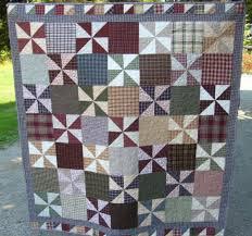 27 best Homespun quilts images on Pinterest   Quilt patterns ... & Pinwheels and patchwork homespun style Adamdwight.com