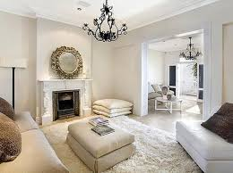 dazzling living rooms with white flokati rug