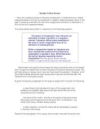 a critical essay sample writing a critical essay sample