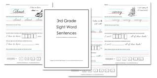 Third Grade Dolch Sight Words 3rd Grade Sight Word Sentences Confessions Of A Homeschooler