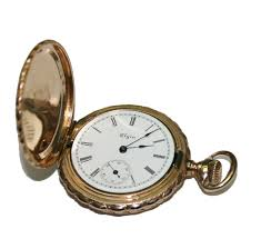 14k muti tone gold elgin antique pocket watch 1 5 diameter