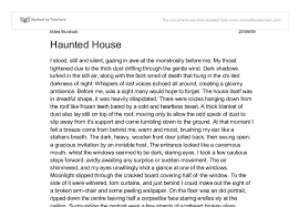 haunted house gcse english marked by teachers com document image preview