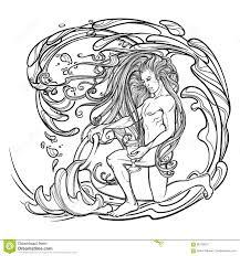 водолей знака зодиака красивый молодой человек при длинные волосы
