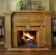 Arts And Crafts Decorative Tiles Standout Fireplace Tile Arts Crafts Style 19