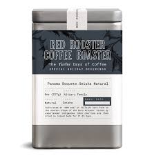 I'd seen their coffee on coffeereview.com a variety of times always scoring high marks, so i knew i needed to try some of it myself. Sold Out Panama Boquete Geisha Natural Red Rooster Coffee