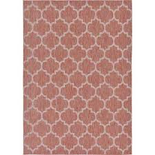 outdoor trellis rust red 7 0 x 10 0 area rug