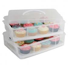 Howards Storage World Stackable 24 Cupcake Carrier