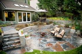 stone patio installation: stone patio installation rustic patio stone outdoor living walls steps fire pit x